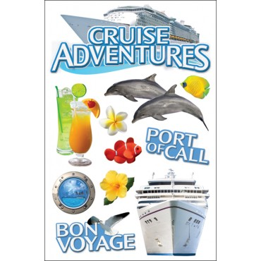 Cruise Paper House 3-D Sticker STDM45E