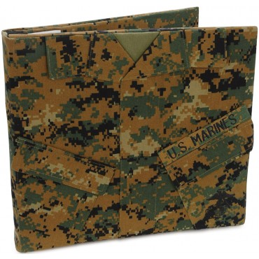 "Woodland Camo U.S. Marine Keepsake Post Bound Album 12""X12"" MARSBK02"
