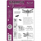 Set 65 Stamp-It EZMount Cling Mini Binder Set 5.5&quot;X8.5&quot; SIA-ST65