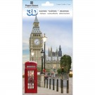 "London 3D Sticker 4.5""x7"" Sheet STDM0801"