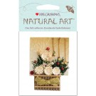 Gold Flower Basket Mrs. Grossman's Natural Art Stickers MGNAT199-43335