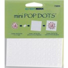 White, 1/4&quot; Mini Pop Dots 264/Pkg 0073MIN
