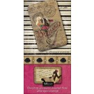 Perforated Tags &amp; Coordinating Die-Cuts Burlesque Journal Die-Cuts Book 8&quot;X4&quot; 60 Pages MC44001
