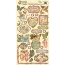 "Fairy Enchanting Heartwarming Vintage Cardstock Stickers 6""X12""Sheet CSHVS-920"