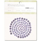 Lilac Self-Adhesive Rhinestones 100/Pkg SB705