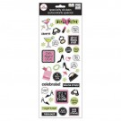 "Girls Night Out W/Foil MAMBI Specialty stickers 5""x12"" Sheet SPX-41"