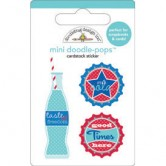 Soda Pop Stars &amp; Stripes Doodle-Pops Embellished 3-D Stickers STSTDP-3691