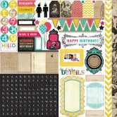 "Element Photo Freedom Birthday Wishes Stickers 12""X12"" PFBW7007"