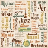 "Band Collage Music Paper 12""X12"" KFMU-PP-64865"