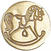 Rocking Horse Decorative Seal Coin 727RCK