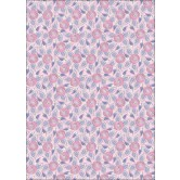 "Spring Roses Pink With Silver Foil Seasons Heavyweight Background Card Sheet 8""X12"" SE-CRD-9519"