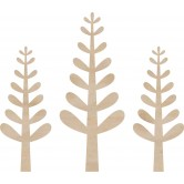 Trees 3/Pkg Wood Flourishes FL359