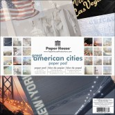 "Great American Cities Paper House Double-Sided Paper Pad 12""X12"" 24 Sheets PHP12-0029E"