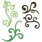 Decorative FlourishesSizzix Sizzlits Die Set 3/Pkg656538